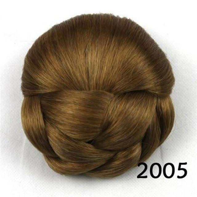 Women Clip Big Hair Bun Hairpiece Hair Extension For Bride Headwear