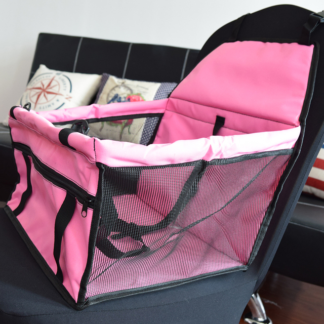600D Oxford Fabric Portable Pet Car Seat Dog Cover Travel Carrier Folding Bag For