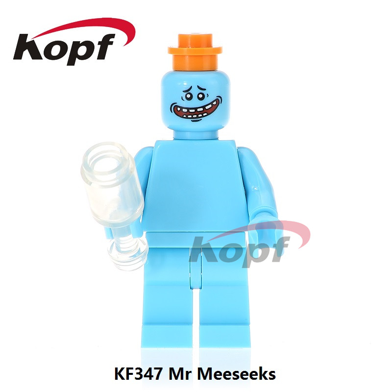 Single Sale Super Heroes The Walking Dead Mr. Meeseeks Rick Morty Negan Morgan Bricks Building Blocks Children Gift Toys KF347 building blocks the walking dead figures rick negan carl daryl star wars super heroes set assemble bricks kids diy toys hobbies