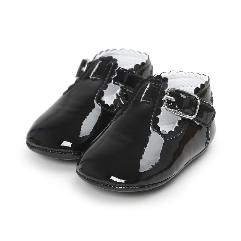 Купить с кэшбэком 12 Color Fashion Baby Girls Baby Shoes Cute Newborn First Walker Shoes Infant Letter Princess Soft Sole Bottom Anti-slip Shoes