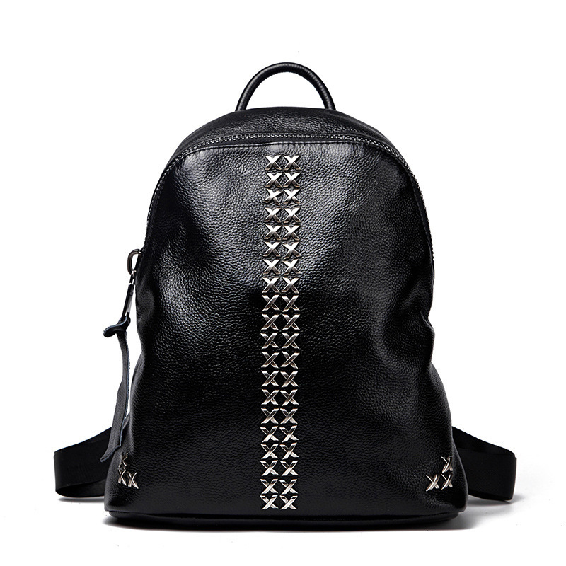 ФОТО 2016 New Women Genuine Leather Backpack Fashion Ladies Cow Leather Daily Backpack Female Leisure Travel Cowhide Backpack