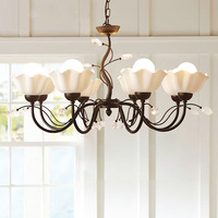 American country Antique Style Chandeliers living room Vintage Crystal lights bedroom lamp Dining Lustres Chandelier Lighting
