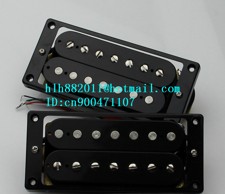 new 7 strings electric guitar open pickup in black can cut single free shipping new electric guitar double coil pickup chb 5 can cut single art 46