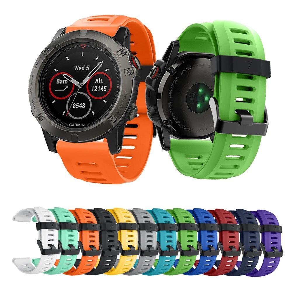 Ersatz Silikon 3 Weichen Uhrenarmbänder Für Armband Garmin Fenix b6yIYf7gvm