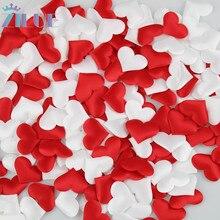 Zilue 100 шт./пакет ткань сердце 3,5x2,5 см Свадьба День Святого Валентина конфетти украшение стола Декорации для вечеринки на день рождения поставки