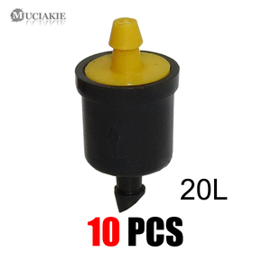 Image 5 - 10 個 4/6/8/10/20/30/40/50/60L 圧力補償エミッタセルフクリーニング点滴灌漑水レギュレータミニインラインエミッタ