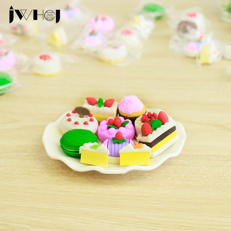 1 Pcs  Novelty Cartoon Fcake Modelling Eraser Kawaii Stationery School Office Supplies Correction Supplies Child's Toy Gift