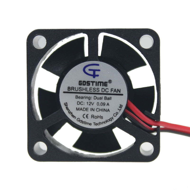 1 Piece Gdstime 30mm x 30mm x 10mm DC 12V Small Ball Bearing Brushless Cooling Fan 30x30mm 2Pin 2.0 5 Blades gdstime 10 pcs dc 12v 14025 pc case cooling fan 140mm x 25mm 14cm 2 wire 2pin connector computer 140x140x25mm