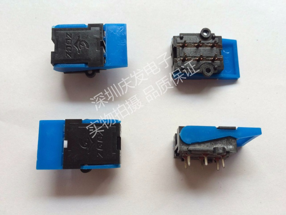 Original new 100% telephone switch reset switch 6pin button building intercom switch handsets fork spring