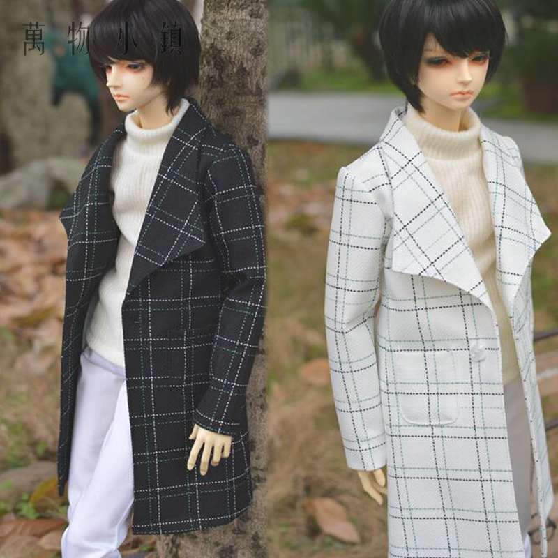 New Hot Sale 1/3 SD LUTS BJD Doll Clothes White Handsome Grid Boy Coat/Outfit new 1 3 22 23cm 1 4 18 18 5cm bjd sd dod luts dollfie doll orange black short handsome wig