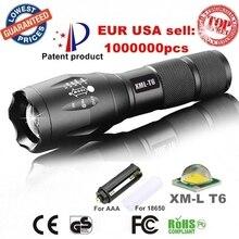 Xrechargeable xm-l масштабируемые aaa cree факел сша или тактический фонарик батареи