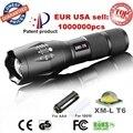 EE.UU. E17 XM-L T6 3800LM Táctica del cree led de La Antorcha de Zoomable cree LED Linterna Antorcha de luz para AAA o 1 1xrechargeable 18650 batería
