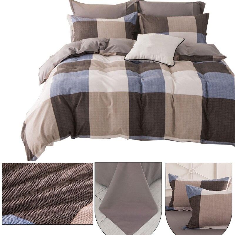 Fashion Geometric Plaid Pattern Polyester Fabric Bedding