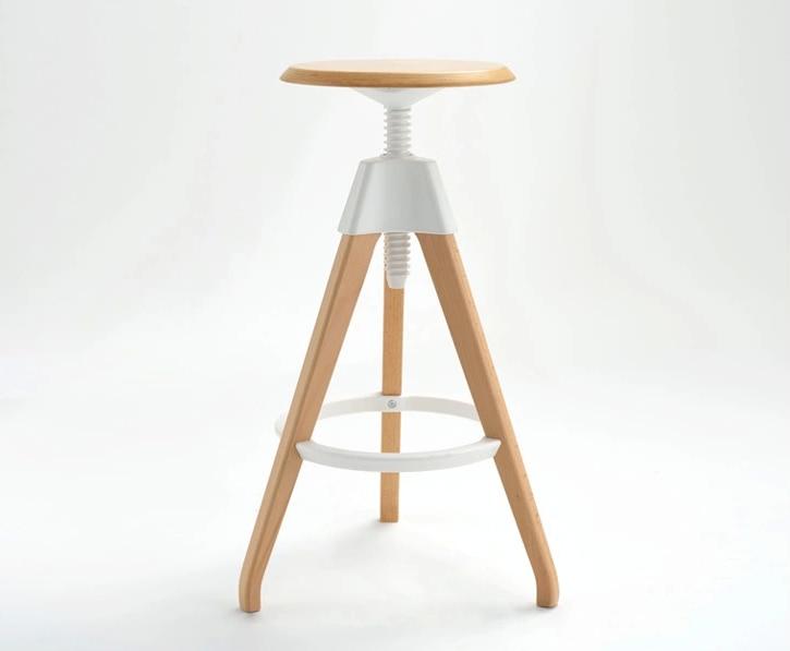 Fashion bar sgabello di sollevamento in legno sedia hotel ristorante
