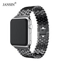 JANSIN ссылка Нержавеющая сталь ремешок для мм apple watch группа 42 мм/мм 38 мм/40 мм/44 мм браслет часы ремешок для ремешки для часов iwatch серии 4 3 2 1