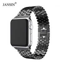 JANSIN di collegamento In Acciaio Inossidabile Cinghia per apple watch band 42mm/38mm/40mm/44mm braccialetto watch band per iwatch fasce per serie 5 4 3 2 1