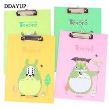 Cartoon Totoro Vertical WordPad A4 Paper File Splint Business Document File Folder Clipboard Office Stationery