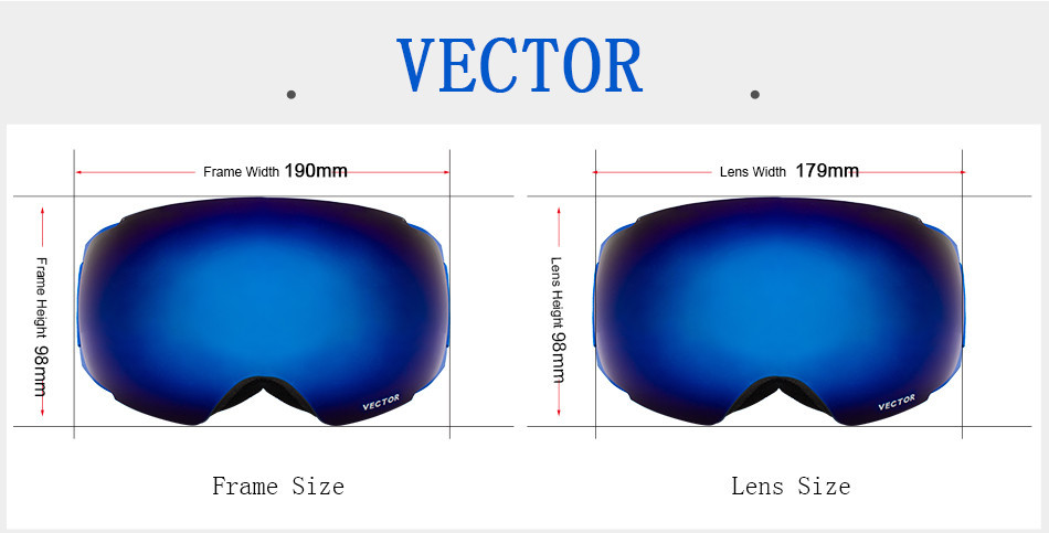 fácil substituível ímãs no quadro e lentes