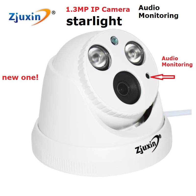 1PC NEW 1.3mp starlight  IP camera with audio monitoring cctv camera with 3mp HD Lens Onvif night vision camera for home bestsellers 3 twelfth night [book with audio cd x1 ]