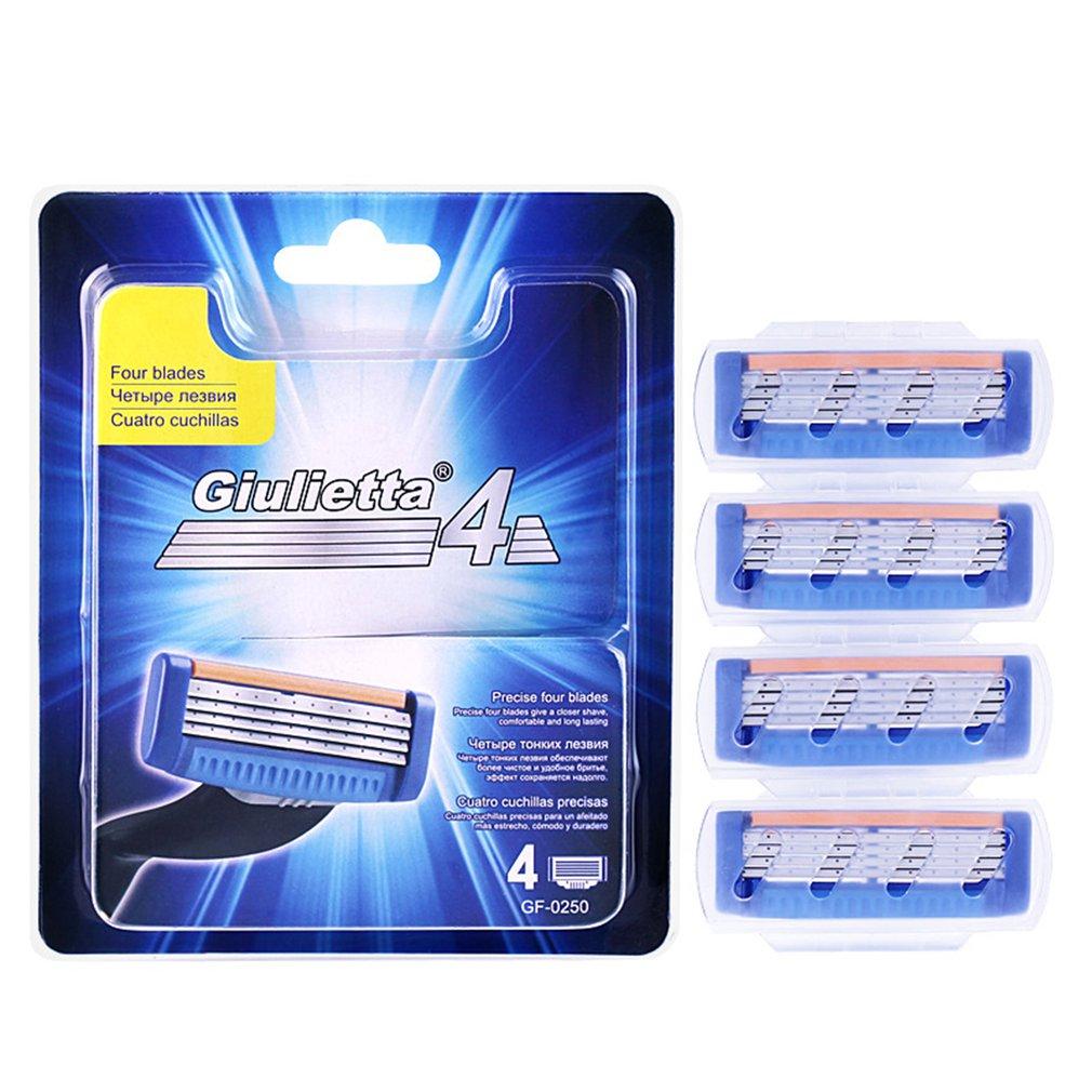 Dustproof and waterproof patented men's 4-layer manual razor head Universal razor replaces GF4-0250