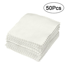 50pcs 8x8cm Jewelry Cleaning Cloth Polishing Cloth for Sterling Silver Gold Silver- Beads(China)