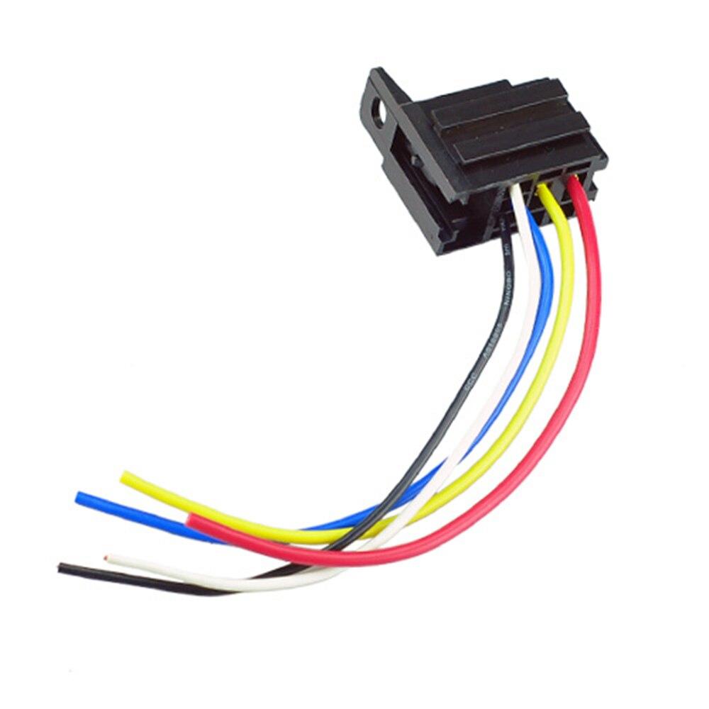 5 Pcs Car Relay Socket 12V 20A 30A 5 Prong 5 Wire Relay Harness Socket 5 5 pcs car relay socket 12v 20a 30a 5 prong 5 wire relay harness Fan Center Relay Five Wire at bakdesigns.co