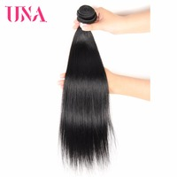 UNA Malaysian Human Hair 1/3/4 Piece Pack #1 #1B #2 #4 Straight Non Remy Hair Weft Human Hair Weave Bundles 8 26 inches