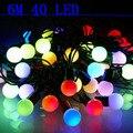 6 M 40 LED cadena linterna al aire libre luz de navidad y de vacaciones suministros a prueba de agua + 220 ~ 240 v
