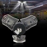 LED Deformable Garage Light 60W E27 LED Bulb With Radar Motion Acativated Ceiling Light For Garage/Warehouse/Basement/Workshop