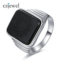 The Great Gatsby Leonardo Dicaprio Men 925 Sterling Silver Ring With Natural Black Onyx Hot Sale