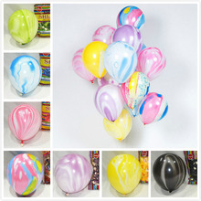 HOT Printing 100Pcs/lot round colorful clouds HELIUM balloons latex thicken agate ballons for kids birthday party 12Inch 3.5g