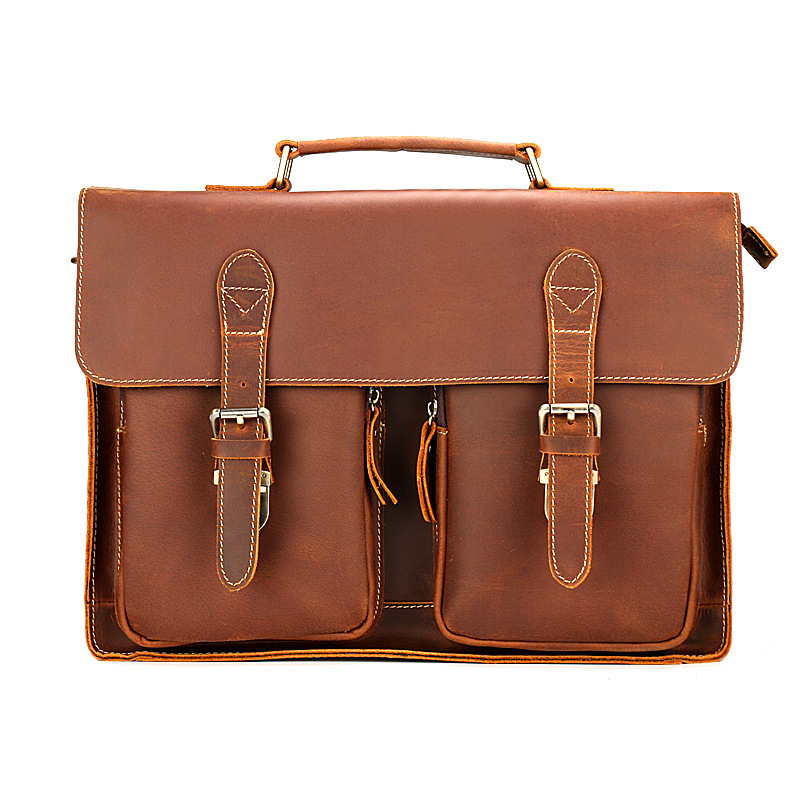 YUPINXUAN High Quality Cow Leather Handbags for Men Vintage Genuine Leather Briefcases 14 Laptop Hand Bag Retro Man Bag Leather new p kuone famous brands briefcases men luxury genuine cow leather 13 inch laptop bag high quality handbags business travel bag