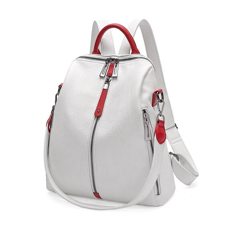 Nouveau décontracté femmes Anti-vol sac à dos 2019 haute qualité Vintage sacs à dos femme plus grande capacité voyage sac à bandoulière