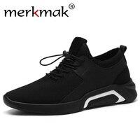 Merkmak бренд 2019 новая дышащая удобная сетчатая мужская обувь повседневная легкая ходьба мужские кроссовки модная обувь на шнуровке