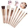 8 pcs Novas Ferramentas Lã Maquiagem Pincel de Blush a Sombra de Olho Escovas de Cosméticos Make Up Brush Set SSwell