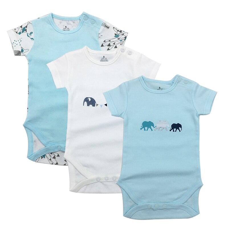 3Pcs/Lot Unisex Top Quality Baby Rompers Short Sleeve Cottom O-Neck 6-24M Novel Newborn Boys&Girls Roupas de bebe Baby Clothes