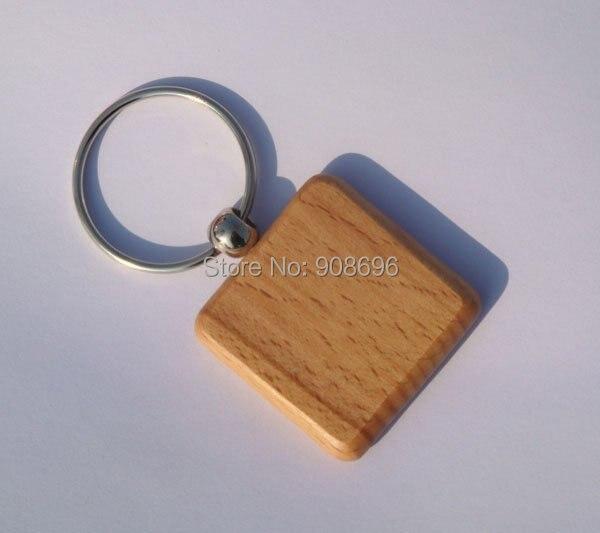 Haut Pflege Werkzeuge kostenloser Versand Spiegel Großhandel 200 Stücke Blank Holz Schlüsselanhänger Platz Carving Diy Geschenk 1,6