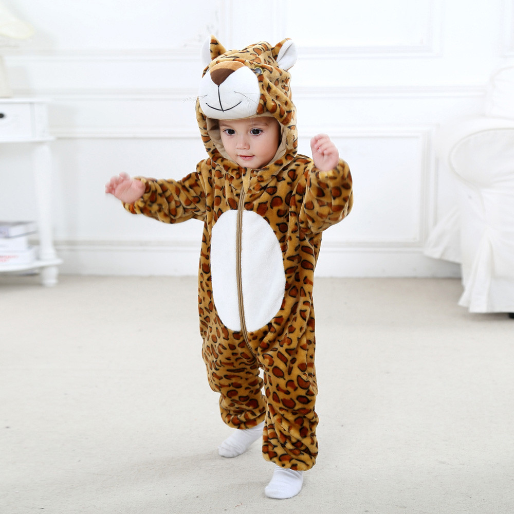 Newest Toddler Newborn Baby Boys Girls clothes Animal Cartoon leopard Hoodie   Rompers   Outfits Clothes