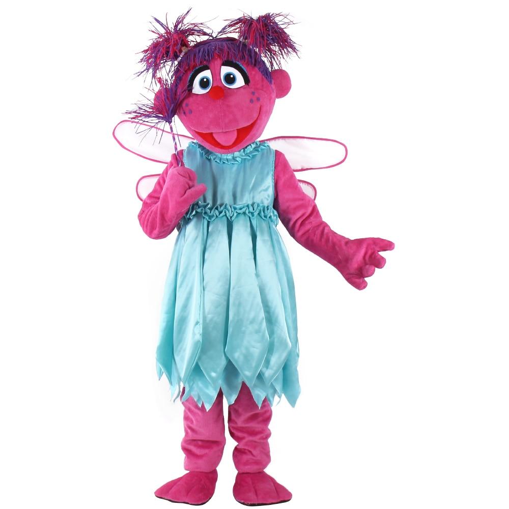 High Quality Colorful Dress Cartoon Magic Girl Mascot Costumes Abby cadabby Mascot Costumes