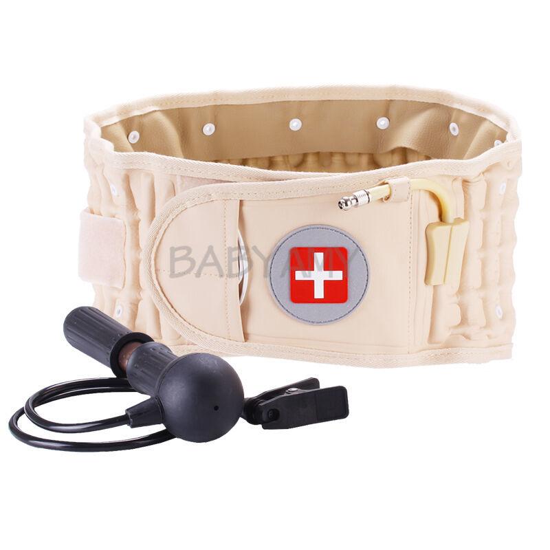 CR-801 Back Decompression Waist Belt Back Massager Back Pain Relief Lumbar Inflatable Traction Belt Air Waist Support Brace(China)