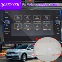 QCBXYYXH Car Styling GPS Navigation Screen Glass Protective Film For Volkswagen Tiguan 2018 Dashboard Display Protective