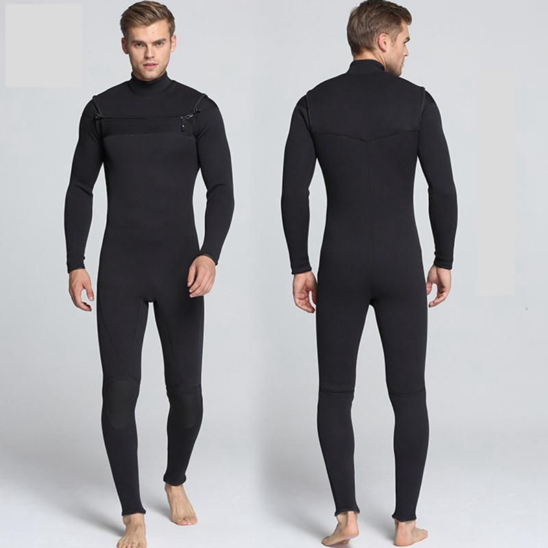 Передняя молния дайвинг гидрокостюм для мужчин новый 3 мм неопрен купальный костюм для серфинга дайвинга Триатлон подводной охоты мокрый к...