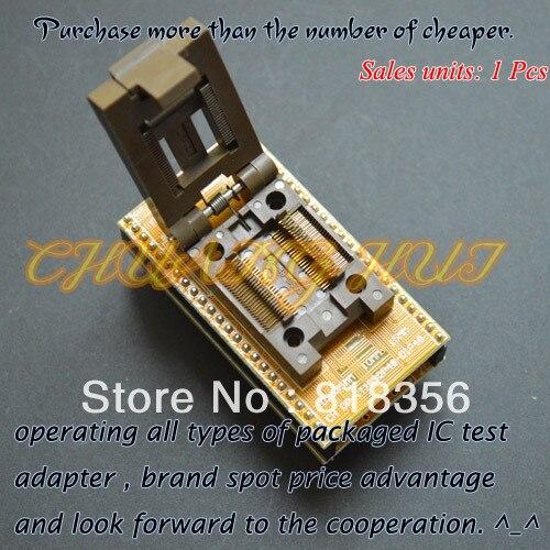 IC TEST CH-DP(T)SSOP48-DIP48 Programmer Adapter TSSOP48 to DIP48 Adapter test socket Pitch:0.635mm Width=10mm/15mm