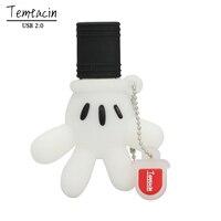 Wholesale Cute Mickey Hand Pen Drive Mickey Mouse Glove USB Flash Drive PenDrive 4GB 8GB 16GB