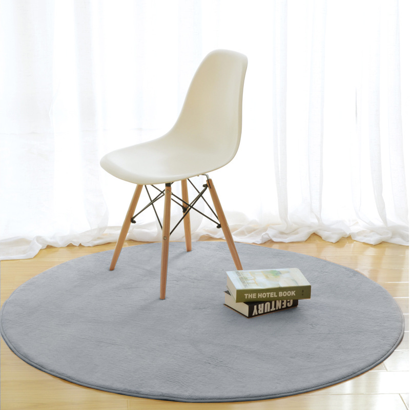 New Fashion Solid Memory Foam Chair Mat Area Rug For Children Bedroom Rugs Yoga Mats Doormat Big Round Carpet For Living Room