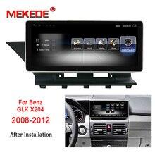 MEKEDE автомобильный мультимедийный плеер 10,25 »Android 7,1 Автомобильный DVD Радио аудио GPS плеер для Benz GLK класс X204 2008-2012 3 + 32G WI-FI BT