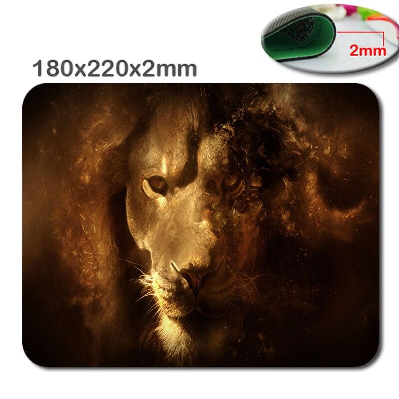 Новое поступление Лидер продаж печати индивидуальность льва Дизайн Высокое качество Прочный компьютерных игр Мышь Pad 180*220*2 мм