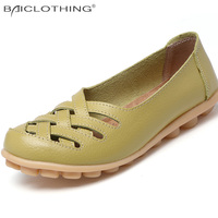 New Arrival Women Sandals Summer Shoes 2017 Fashion Genuine Leather Casual Loafers Shoes Flats With Hollow