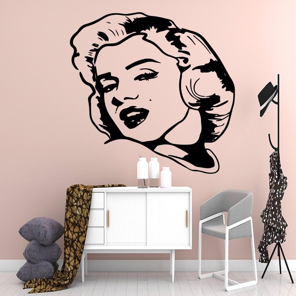 Romantic Marilyn Monroe Vinyl Wallpaper Roll Furniture Decorative For Kids Rooms Background Wall Art Decal Bedroom Decor