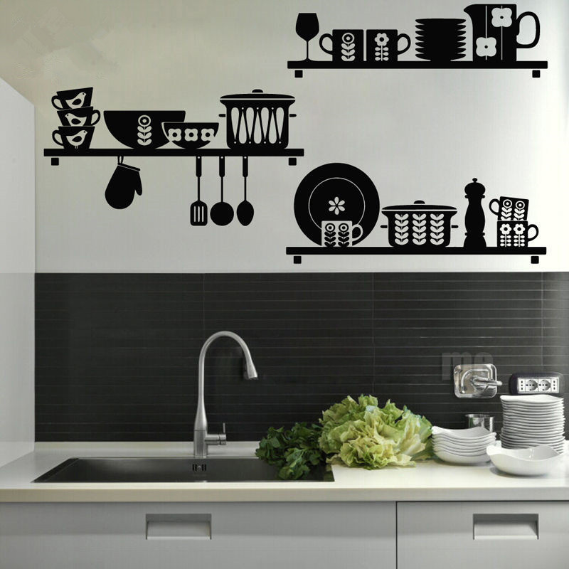 Kitchen Art Removable Vinyl Wall Sticker Decal Mural Cafe Dining Room Home Decor home decoration accessories